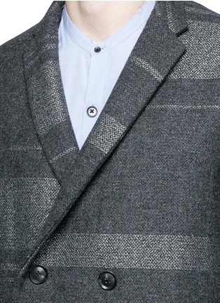 Detail View - Click To Enlarge - KOLOR - Metallic stripe double breasted coat