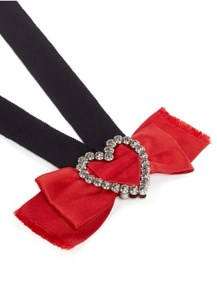 Detail View - Click To Enlarge - Lanvin - 'Courtney' convertible heart brooch ribbon necklace set