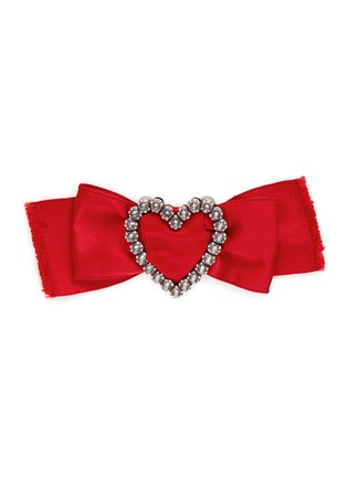 Main View - Click To Enlarge - Lanvin - 'Courtney' convertible heart brooch ribbon necklace set