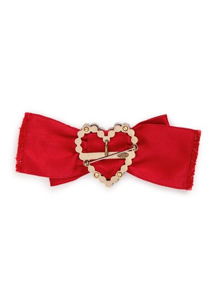 Figure View - Click To Enlarge - Lanvin - 'Courtney' convertible heart brooch ribbon necklace set