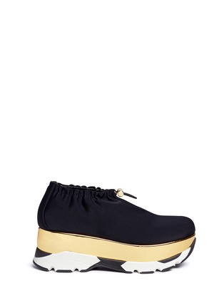 Main View - Click To Enlarge - MARNI - Tech fabric patent platform sneakers