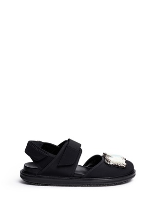 Main View - Click To Enlarge - Marni - 'Fussbett' jewelled techno sandals
