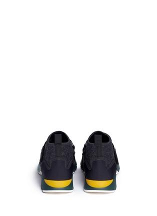 Back View - Click To Enlarge - MARNI - Neoprene high top sneaker booties