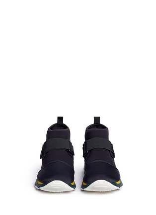 Front View - Click To Enlarge - MARNI - Neoprene high top sneaker booties