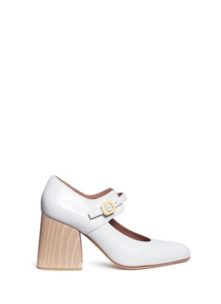 Main View - Click To Enlarge - Marni - Varnished leather Mary Jane pumps