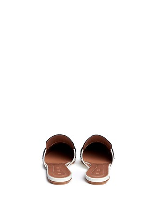 Back View - Click To Enlarge - MARNI - 'Sabot' colourblock leather slide loafers