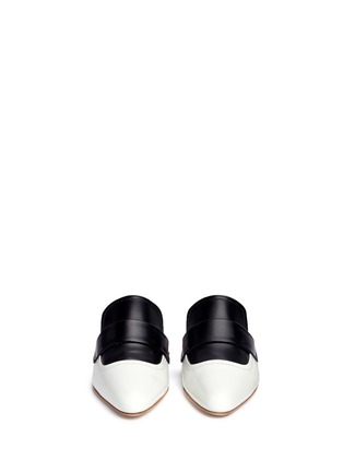 Front View - Click To Enlarge - MARNI - 'Sabot' colourblock leather slide loafers
