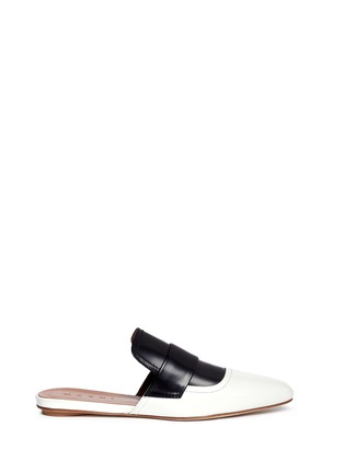 Main View - Click To Enlarge - MARNI - 'Sabot' colourblock leather slide loafers