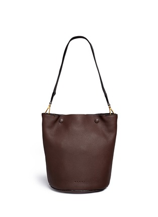Back View - Click To Enlarge - Marni - Small pebbled leather bucket bag