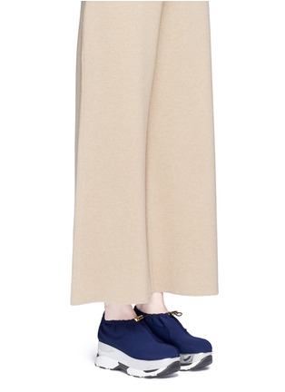 Figure View - Click To Enlarge - Marni - Tech fabric patent platform sneakers