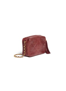 Vintage Chanel Small lizard leather crossbody camera bag