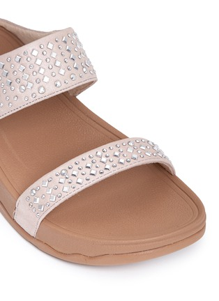 Detail View - Click To Enlarge - FITFLOP - 'Novy' strass glitter suede slide sandals