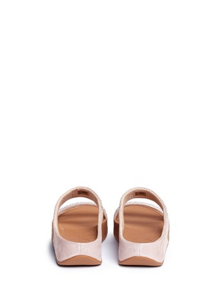 Back View - Click To Enlarge - FITFLOP - 'Novy' strass glitter suede slide sandals