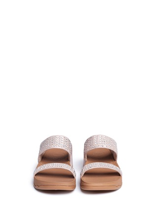 Front View - Click To Enlarge - FITFLOP - 'Novy' strass glitter suede slide sandals