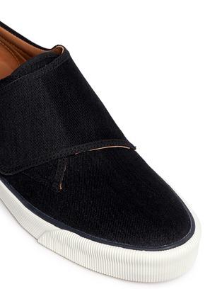 Detail View - Click To Enlarge - Lanvin - Denim Lurex strap sneakers