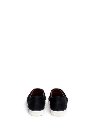 Back View - Click To Enlarge - Lanvin - Denim Lurex strap sneakers