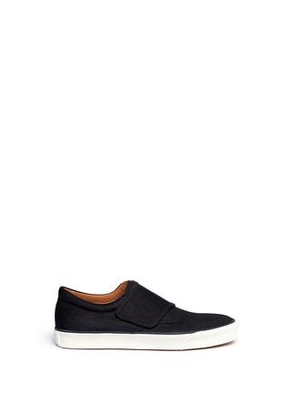 Main View - Click To Enlarge - Lanvin - Denim Lurex strap sneakers