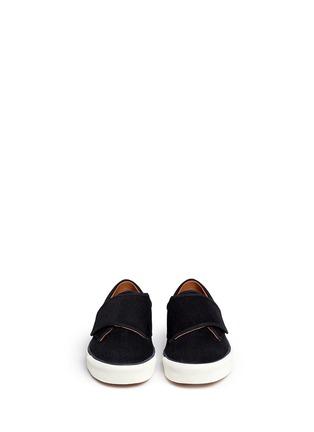 Figure View - Click To Enlarge - Lanvin - Denim Lurex strap sneakers
