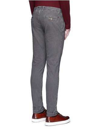 Back View - Click To Enlarge - Incotex - Slim fit cotton pants