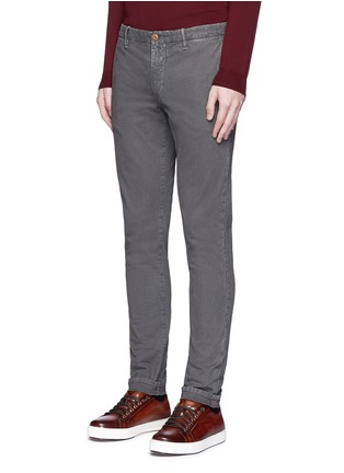 Front View - Click To Enlarge - Incotex - Slim fit cotton pants