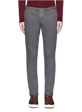 Main View - Click To Enlarge - Incotex - Slim fit cotton pants