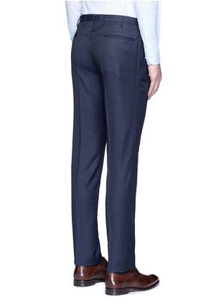 Back View - Click To Enlarge - Incotex - Slim fit diamond jacquard pants