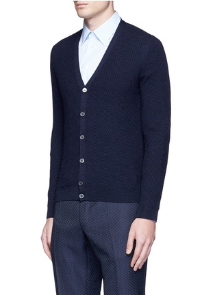 Front View - Click To Enlarge - Incotex - Flexwool cardigan