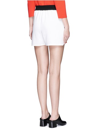 Back View - Click To Enlarge - Stella McCartney - 'Kristelle' poppy print colourblock shorts