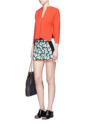 Figure View - Click To Enlarge - Stella McCartney - 'Kristelle' poppy print colourblock shorts