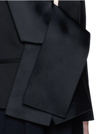 Detail View - Click To Enlarge - Stella McCartney - Sateen bow wool tailored jacket