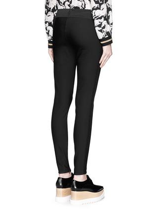 Back View - Click To Enlarge - Stella McCartney - Cotton blend crepe leggings