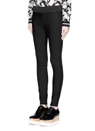 Front View - Click To Enlarge - Stella McCartney - Cotton blend crepe leggings