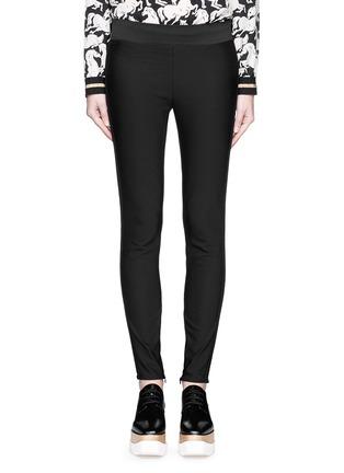 Main View - Click To Enlarge - Stella McCartney - Cotton blend crepe leggings