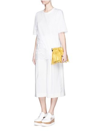 Figure View - Click To Enlarge - STELLA MCCARTNEY - Broderie anglaise trim poplin top