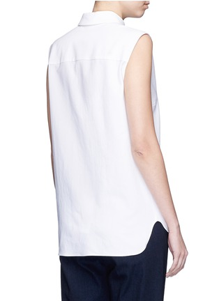 Back View - Click To Enlarge - Stella McCartney - 'Laure' embellished cotton piqué shirt