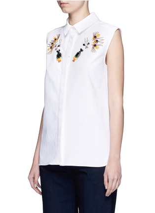 Front View - Click To Enlarge - Stella McCartney - 'Laure' embellished cotton piqué shirt