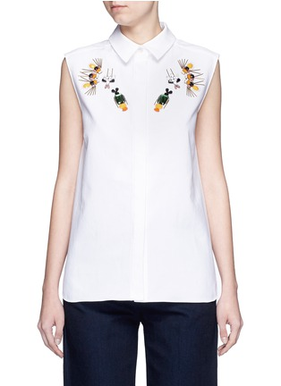 Main View - Click To Enlarge - Stella McCartney - 'Laure' embellished cotton piqué shirt