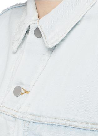 Detail View - Click To Enlarge - T By Alexander Wang - 'Daze' distressed oversize denim jacket