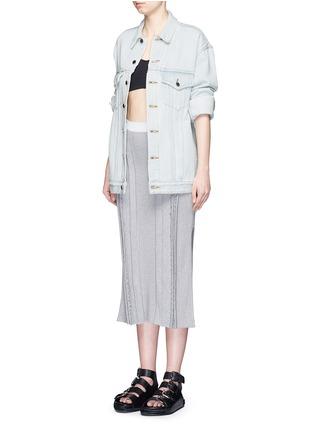 Figure View - Click To Enlarge - T By Alexander Wang - 'Daze' distressed oversize denim jacket