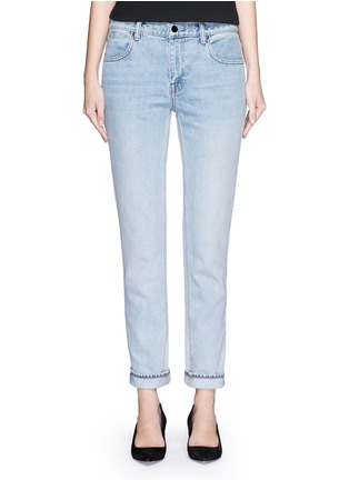 Detail View - Click To Enlarge - T By Alexander Wang - 'Wang 002' washed tapered jeans
