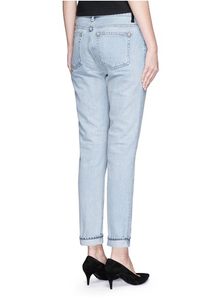 Back View - Click To Enlarge - T By Alexander Wang - 'Wang 002' washed tapered jeans