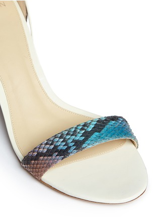 Detail View - Click To Enlarge - ALEXANDRE BIRMAN - 'Lovely' python leather block heel sandals