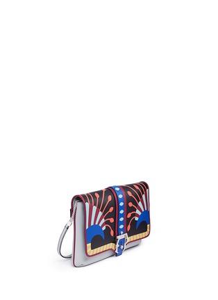 Front View - Click To Enlarge - PAULA CADEMARTORI - 'Sylvie' Nouveau Risque leather chain clutch