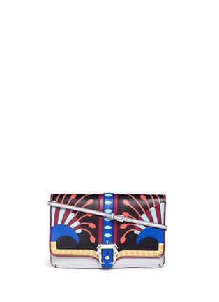 Main View - Click To Enlarge - PAULA CADEMARTORI - 'Sylvie' Nouveau Risque leather chain clutch