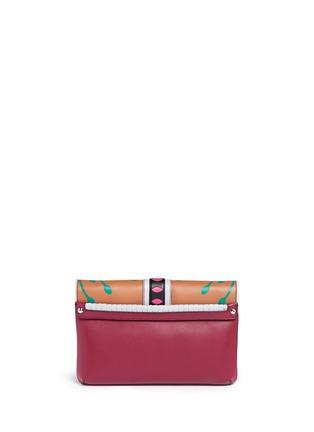 Back View - Click To Enlarge - PAULA CADEMARTORI - 'Sylvie' Nouveau Risque leather chain clutch