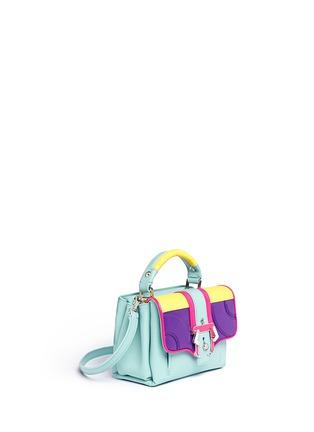 Figure View - Click To Enlarge - PAULA CADEMARTORI - 'Dun Dun' mini colourblock leather satchel