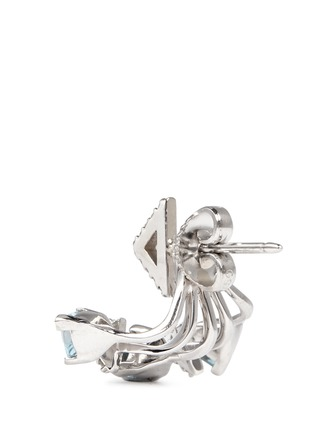 Back View - Click To Enlarge - Phyne By Paige Novick - 'Marta' 18k gold diamond pavé aquamarine single earring