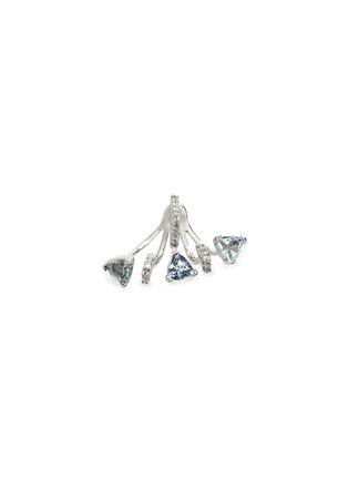 Main View - Click To Enlarge - Phyne By Paige Novick - 'Marta' 18k gold diamond pavé aquamarine single earring