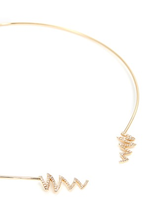 Detail View - Click To Enlarge - Phyne By Paige Novick - Ines' scribble diamond pavé 18k gold open collar