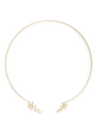 Main View - Click To Enlarge - Phyne By Paige Novick - Ines' scribble diamond pavé 18k gold open collar